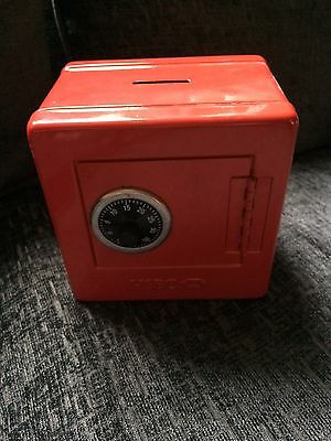 HSBC Safe Money Box Toy Secure Red