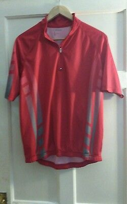 NEW mens red short sleeve cycling top size L by 4 Sports