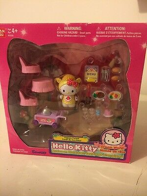 Hello Kitty Happy Forest Dream World Playset Mushroom House 2001 Sanrio