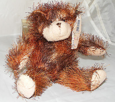Very Shaggy Brown Bear Soft Toy