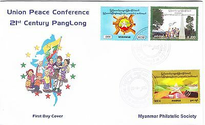 Myanmar 2016 FDC of stamp set for the Union Peace Conference