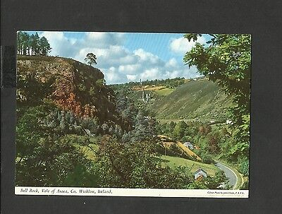 J Hinde Colour Postcard View Bell Rock Vale of Avoca  Wicklow Ireland unposted