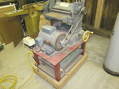 Parks 12 in. Planer on Heavy Stand with Dayton 3hp Motor
