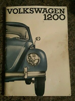 vw beetle 1200 instruction manual