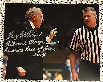 Gary Williams signed 8 X 10 Photo Autographed Basketball