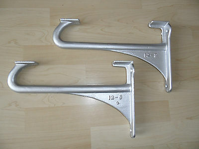 Pair Vintage Cast Iron Mounting Brackets, Cistern, Sink Restored / Upcycled