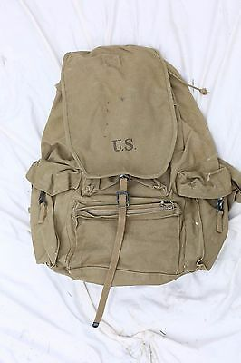 RARE 1st PATTERN EARLY WAR WWII 10th Mountain Backpack 1941 Powers & Co Rucksack