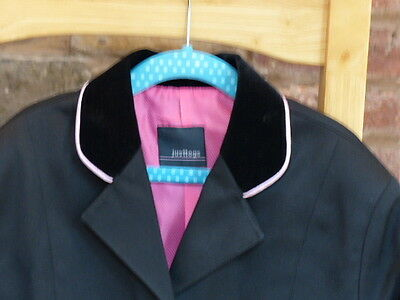 9-10yrs JUST TOGS MESSINA SHOW COMPETITION JACKET - BLACK & PINK RRP £59