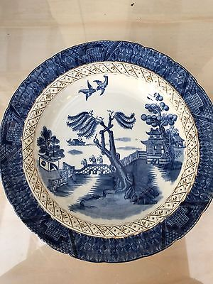 Booths Real Old Willow shallow soup bowl  25.5cm Blue & White China 9072