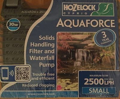 NEW Hozelock 1581 Aquaforce 2500 LPH Garden Pond Pump 30w Maximum Flow*