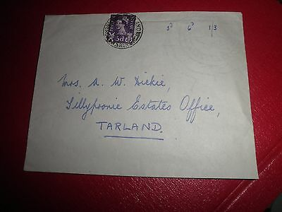 GB SCOTLAND 1958 3d  SG S1 on plain First Day Cover from TARLAND ABERDEENSHIRE