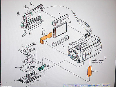 GENUINE  PARTS FOR SONY HDR-SR11 from $5-$75