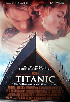 Titanic Original Int 1-Sheet Poster, Revised Version, Dicaprio, Winslet (1997)