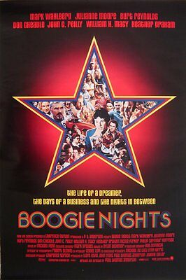 BOOGIE NIGHTS MOVIE POSTER Single Sided ORIGINAL 27x40 MARK WAHLBERG, 1998