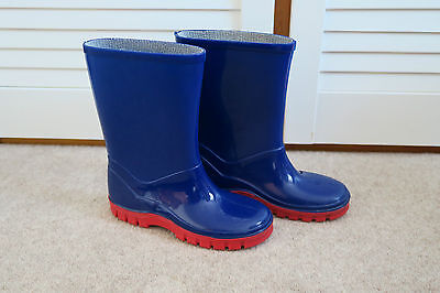EX CON!!! Mothercare kids blue and red wellies, size 11