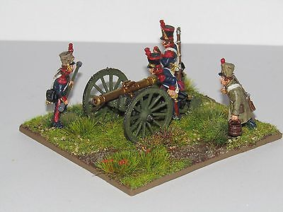 28mm METAL NAPOLEONIC FRENCH ARTILLERY BLACK POWDER NEWLY HAND PAINTED/BASED