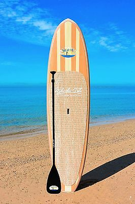 RIDE THE TIDE SUP WOODY MAHALO Stand Up Paddle Board + ADJUSTABLE Paddle