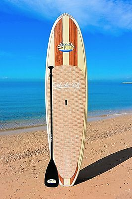RIDE THE TIDE SUP WOODY LE HINA Stand Up Paddle Board + ADJUSTABLE Paddle