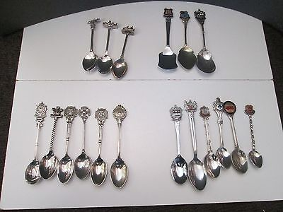 Collectors Souvenir Spoons Chrome / Silver Plated Mixed lot