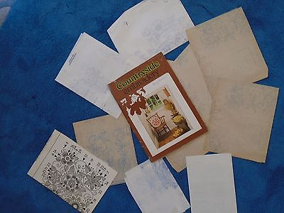 Coates Countryside Embroidery Magazine With Iron On Patterns (Vintage )