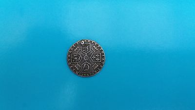 GEORGE 3rd 1787 sixpence (Holed)