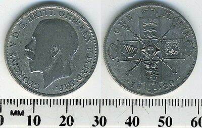 Great Britain 1920 - 1 Florin Silver Coin - King George V