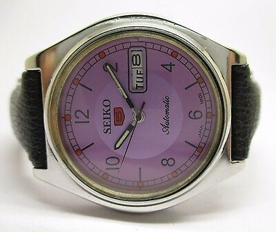 Vintage Men's Seiko 5 Automatic Day And Date Wrist Watch In Excellent Condition