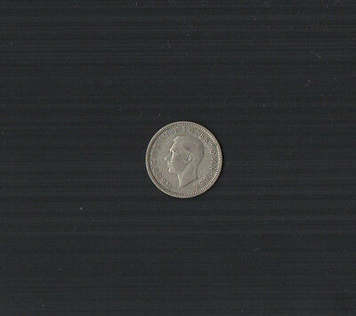 1946 King George VI .500 Silver Sixpence Coin