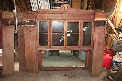 Antique Back Bar Mid-Late 1800's Pancho Villa   And Billy The Kid Visited