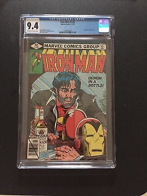 Iron Man 128 !!cgc 9.4 !! Iconic Cover !! Htf Grade !!! Awesome !!