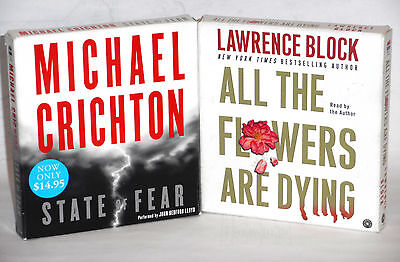 Michael Crichton and Lawrence Block  Audiobooks on CD