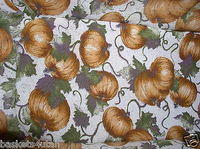 "Longaberger PUMPKIN PATCH Fabric MATERIAL ~ 1 YARD~36"" x 66""-inches WIDE~  NEW!"