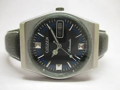 Vintage Men's Citizen Automatic Day And Date Wrist Watch In Excellent Condition