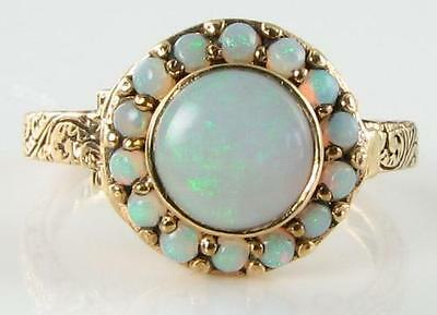 Classic  9K Gold Opal Poison Locket Ring