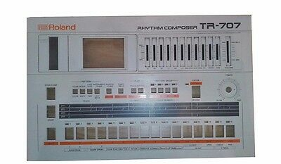 Roland Tr 707 Front Case Very Good Condition Tr-707 Vintage Drum Groovebox