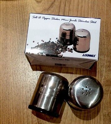 Bnib Retro Style Traditional Salt And Pepper Shakers Stainless Steel