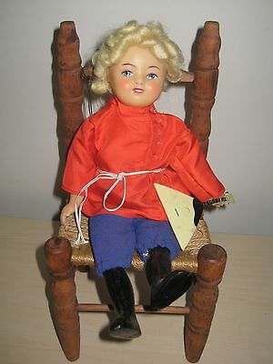 "Vintage 11"" Soviet Russian Celluloid Doll *Unmarked with Instrument BEAUTIFUL"