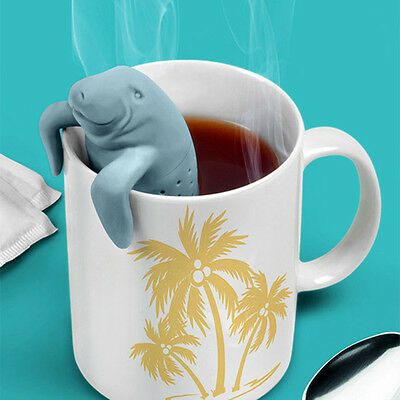 For Mug Cup Manatee Tea Bag Spice Infuser Tea Leaf Strainer Herbal Filter