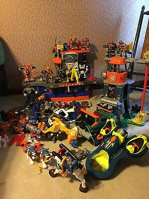 FP RESCUE Heroes AQUATIC COMMAND CENTER JEEP POLICE HELI FIGURES LARGE LOT 65 +