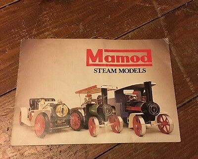 MAMOD Steam Models Catalogue/booklet/brochure
