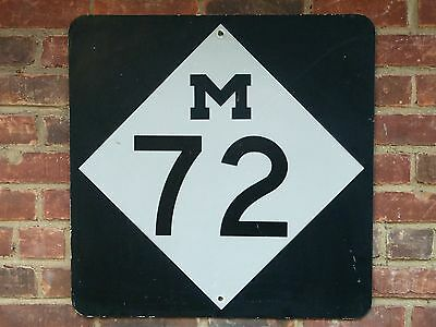 M 72 Reflective Freeway Highway Street Road Sign State Trunk Line Michigan