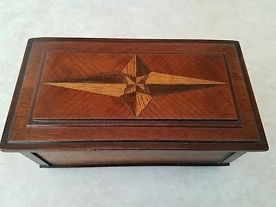 Vintage Hand Made German Inlaid Wooden box