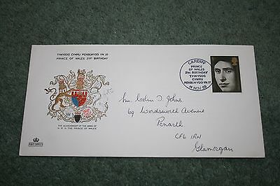 Post Office Commemorative Cover - Prince of Wales 21st Birthday - 1969