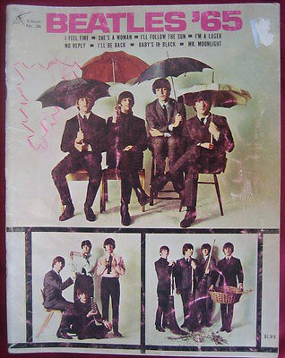 THE BEATLES '65 ~ Album No 38 ~ MUSIC SONG BOOK ~ Lots of Photographs