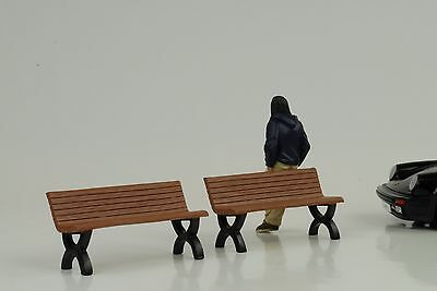 bench bench Set 2 Pieces 1:18 American Diorama without Figurine / Car