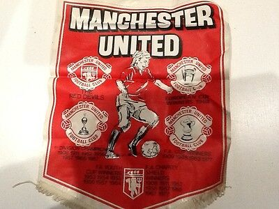 OLD MAN UTD PENNANT. FROM LATE 1970's