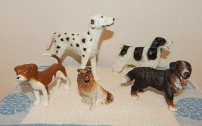 Schleich 16339 Burmese Mountain Dog (retired)~Dalmation~Beagle~Collie~Eng.Setter