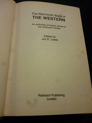 THE MAMMOTH BOOK OF THE WESTERN. Jon E. Lewis (Ed) HB/1st Ed 1991