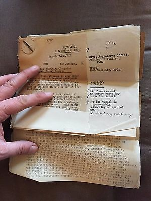 Large Collection Of British Rail 1952 Civil Engineers Office Paddington Letters