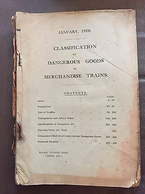 1928 London Midland Classification Of Dangerous Goods Large Book